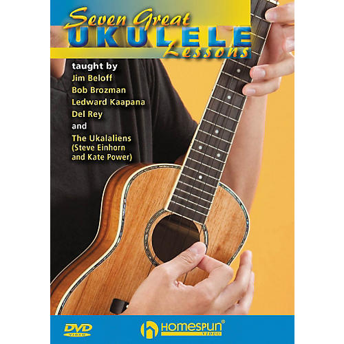 Homespun Seven Great Ukulele Lessons DVD thumbnail
