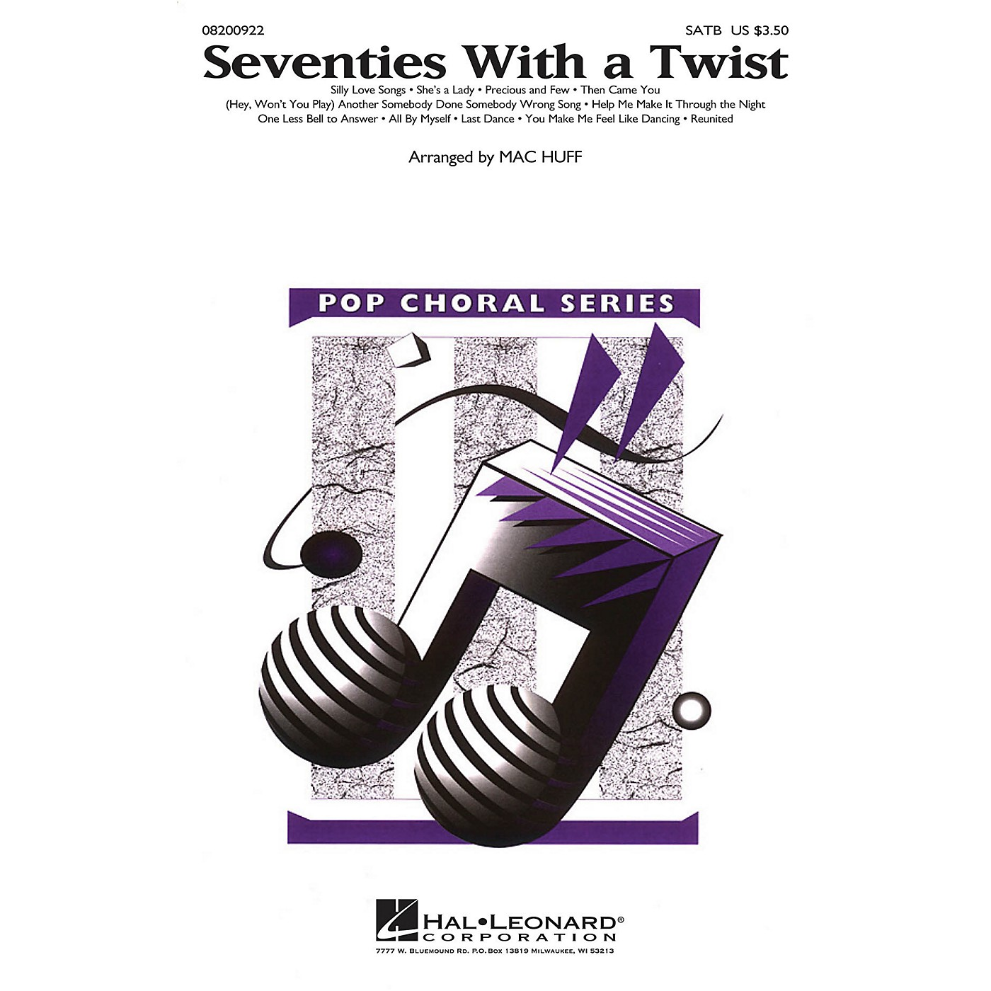 Hal Leonard Seventies with a Twist (Medley) SATB arranged by Mac Huff thumbnail