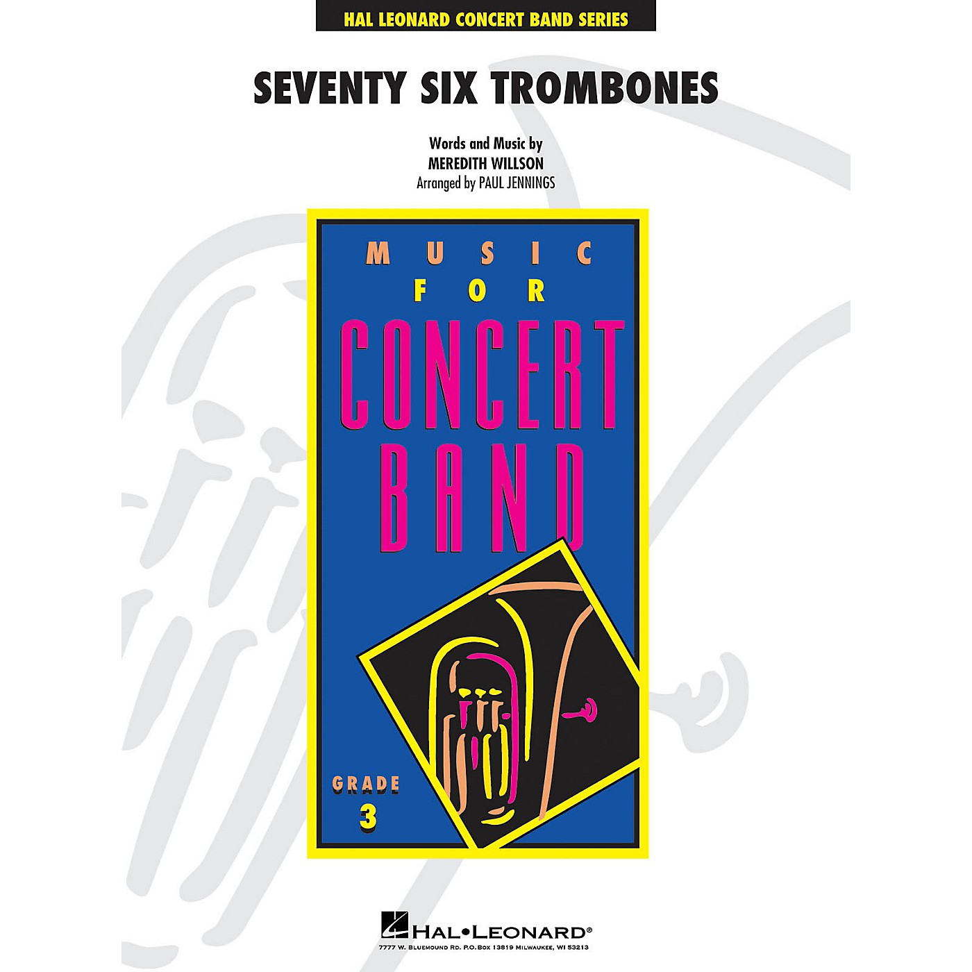 Hal Leonard Seventy-Six Trombones - Young Concert Band Level 3 arranged by Paul Jennings thumbnail