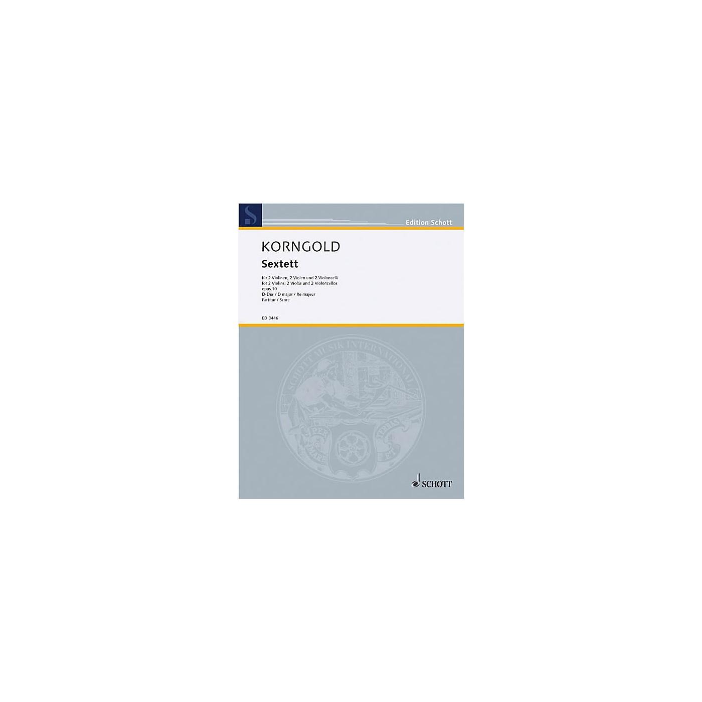 Schott Sextet D Major Op. 10 (Study Score) Schott Series Composed by Erich Wolfgang Korngold thumbnail