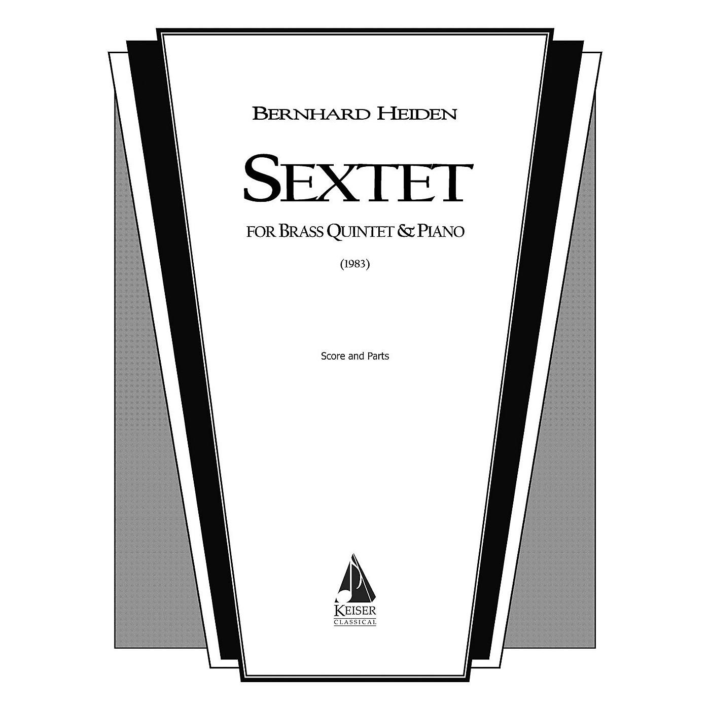 Lauren Keiser Music Publishing Sextet (for Brass Quintet and Piano) LKM Music Series by Bernhard Heiden thumbnail
