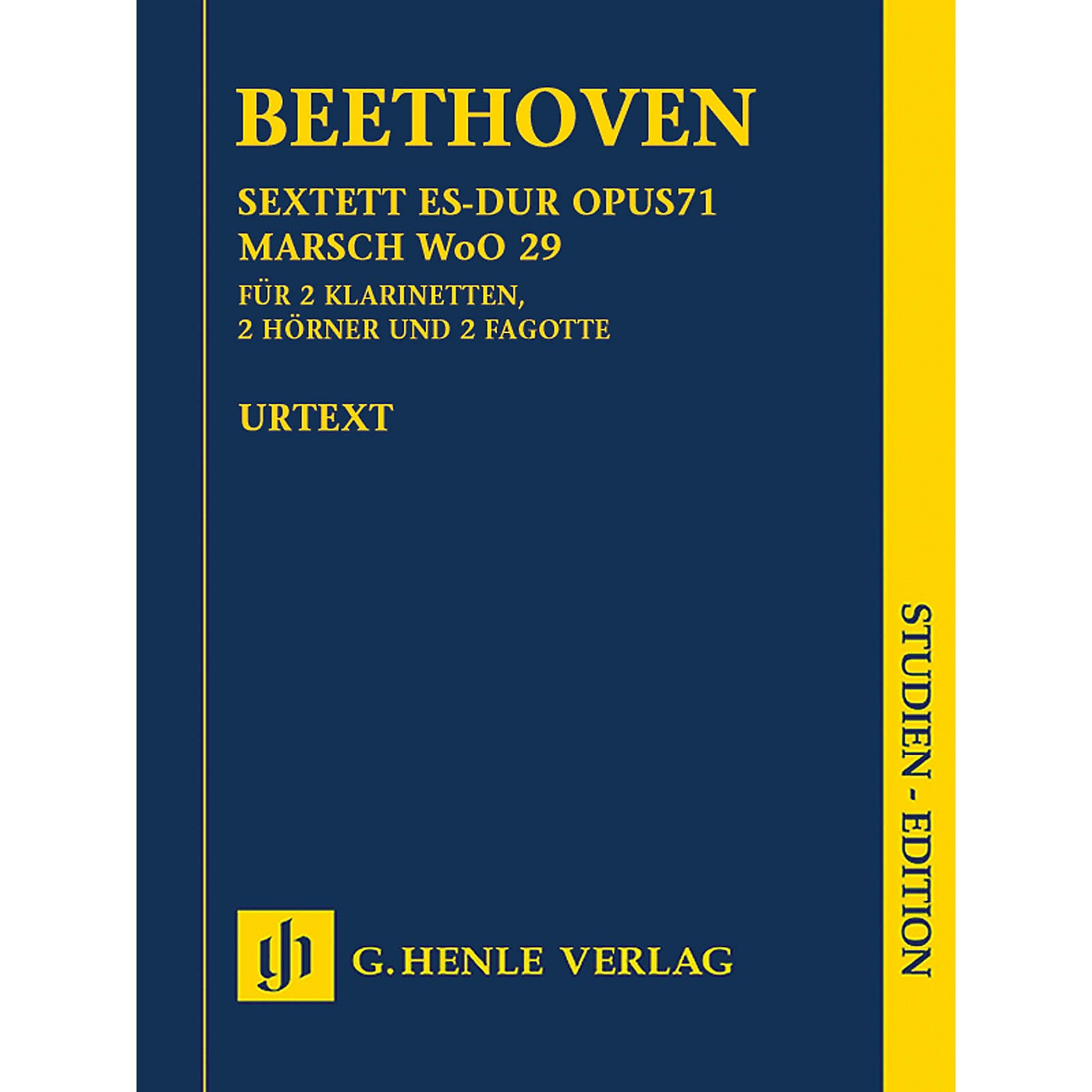 G. Henle Verlag Sextet in E-flat Major, Op. 71 and March, WoO 29 Henle Study Scores by Beethoven Edited by Egon Voss thumbnail