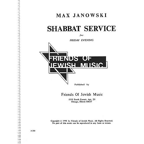 Transcontinental Music Shabbat Service For Friday Evening SATB composed by Max Janowski thumbnail