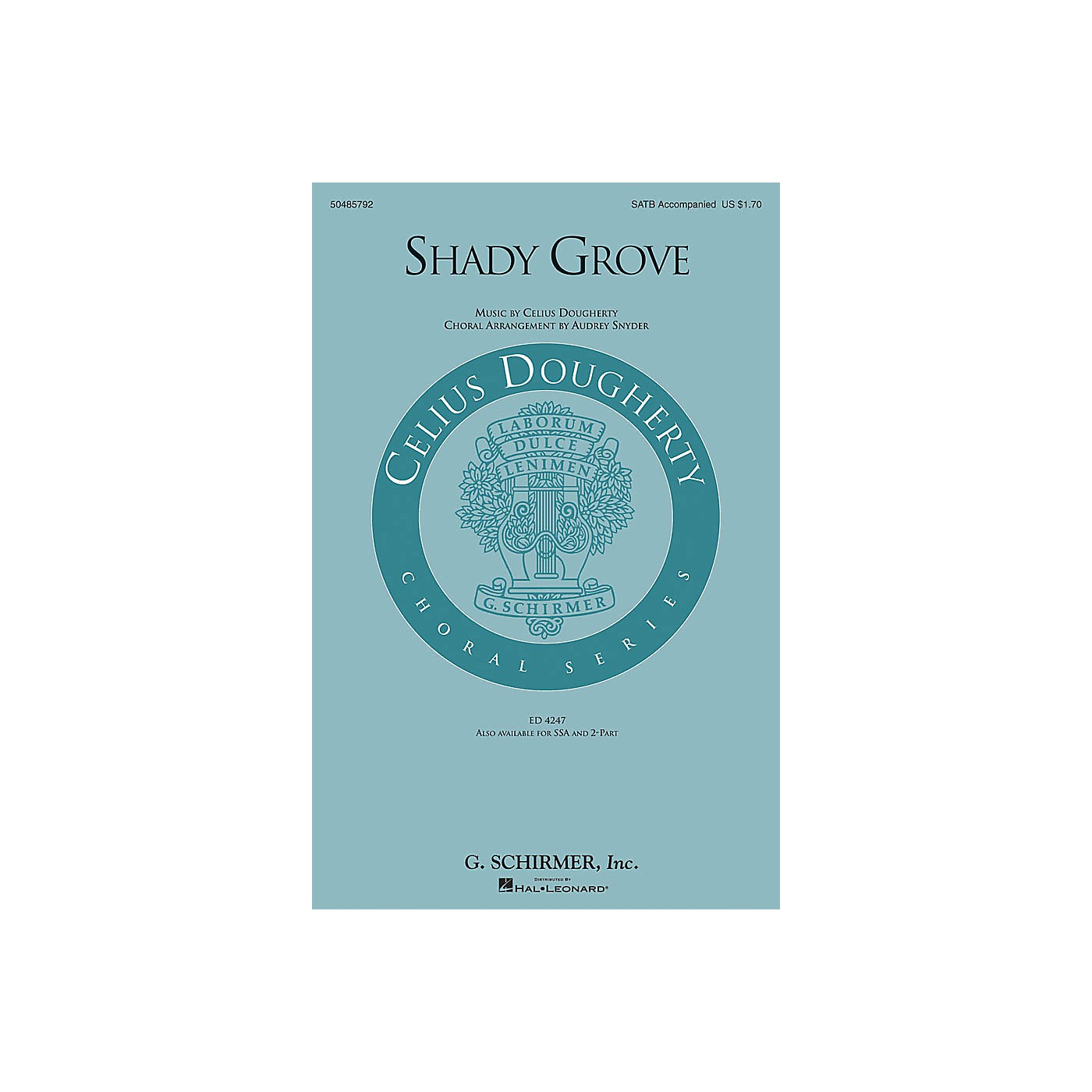 G. Schirmer Shady Grove SATB arranged by Audrey Snyder thumbnail