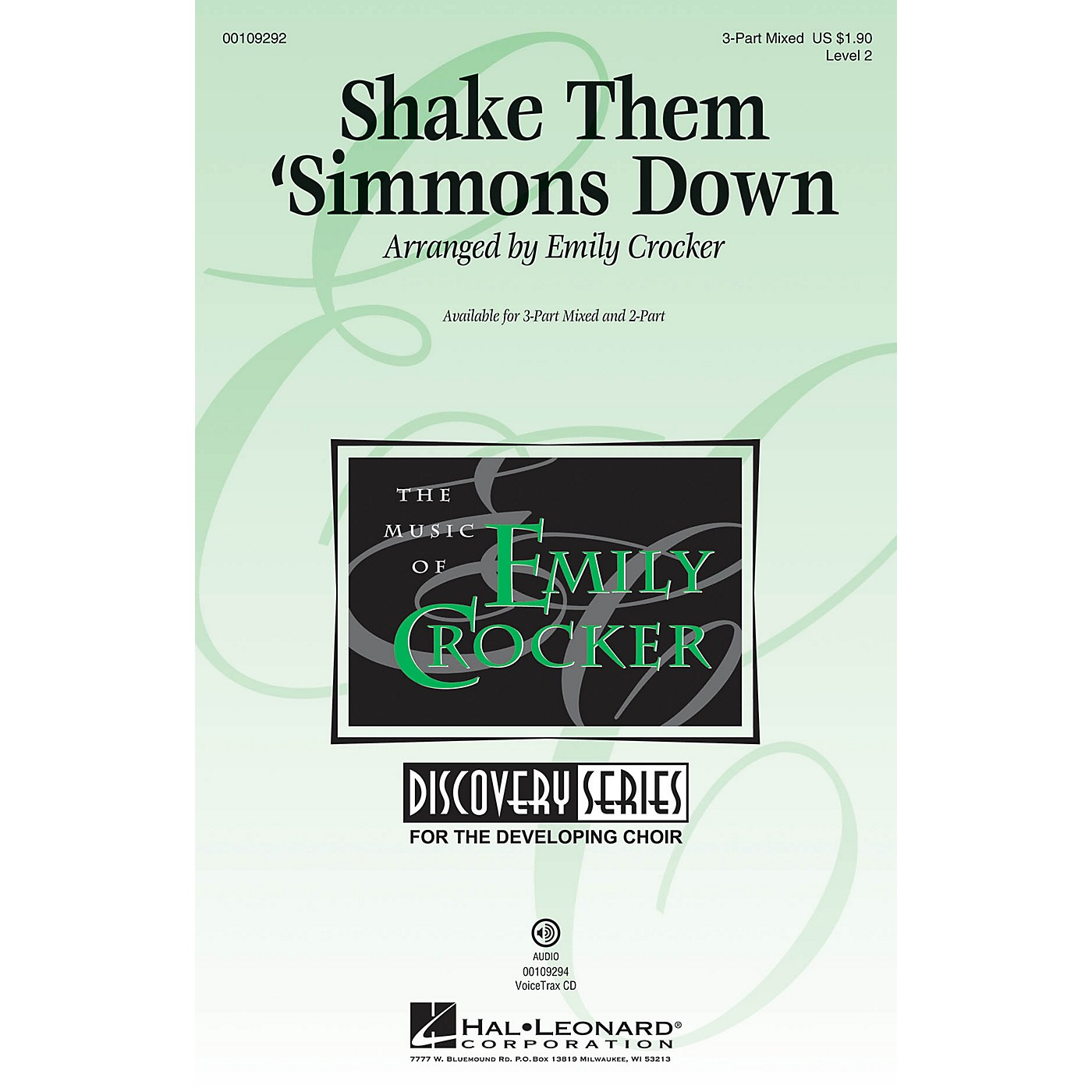 Hal Leonard Shake Them 'Simmons Down (Discovery Level 2) VoiceTrax CD Arranged by Emily Crocker thumbnail