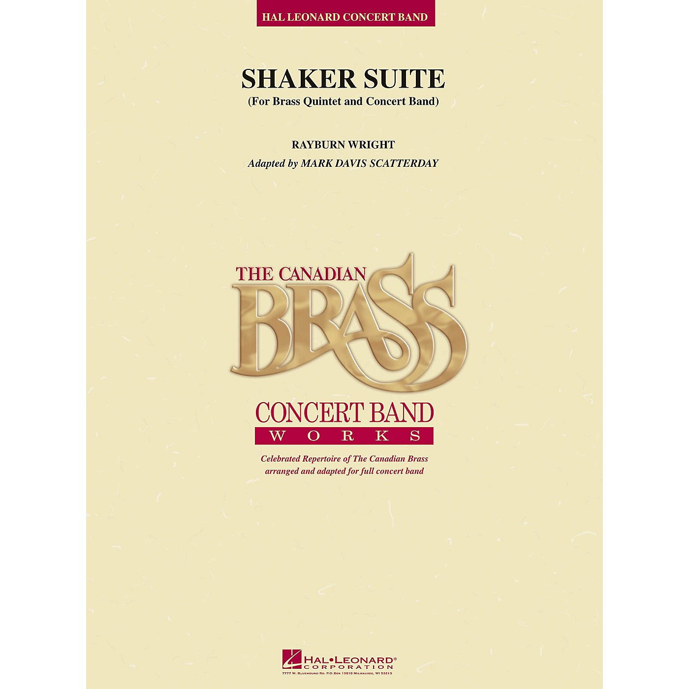 Canadian Brass Shaker Suite (for Brass Quintet and Concert Band) Concert Band Level 5 Arranged by Rayburn Wright thumbnail