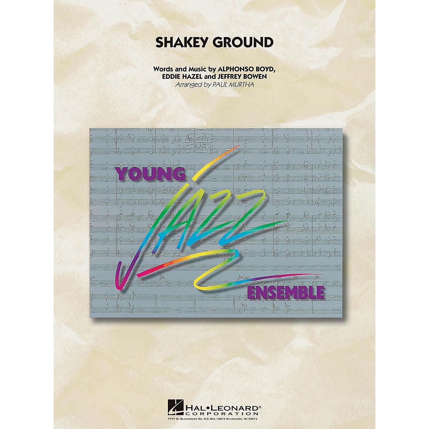 Hal Leonard Shakey Ground Jazz Band Level 3 by The Temptations Arranged by Paul Murtha thumbnail