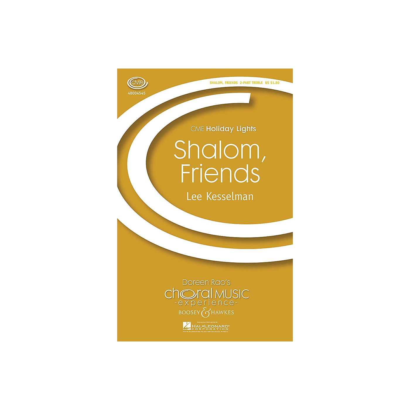Boosey and Hawkes Shalom, Friends (2-Part and Piano) 2-Part composed by Lee R. Kesselman thumbnail