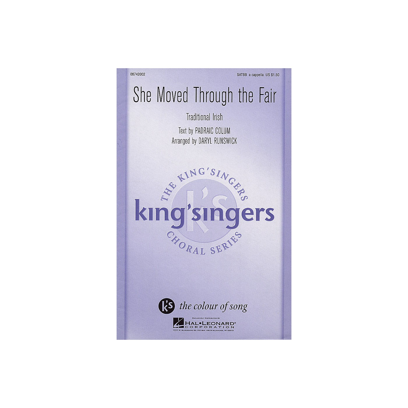 Hal Leonard She Moved Through the Fair SATBB A CAPPELLA by The King's Singers arranged by Daryl Runswick thumbnail
