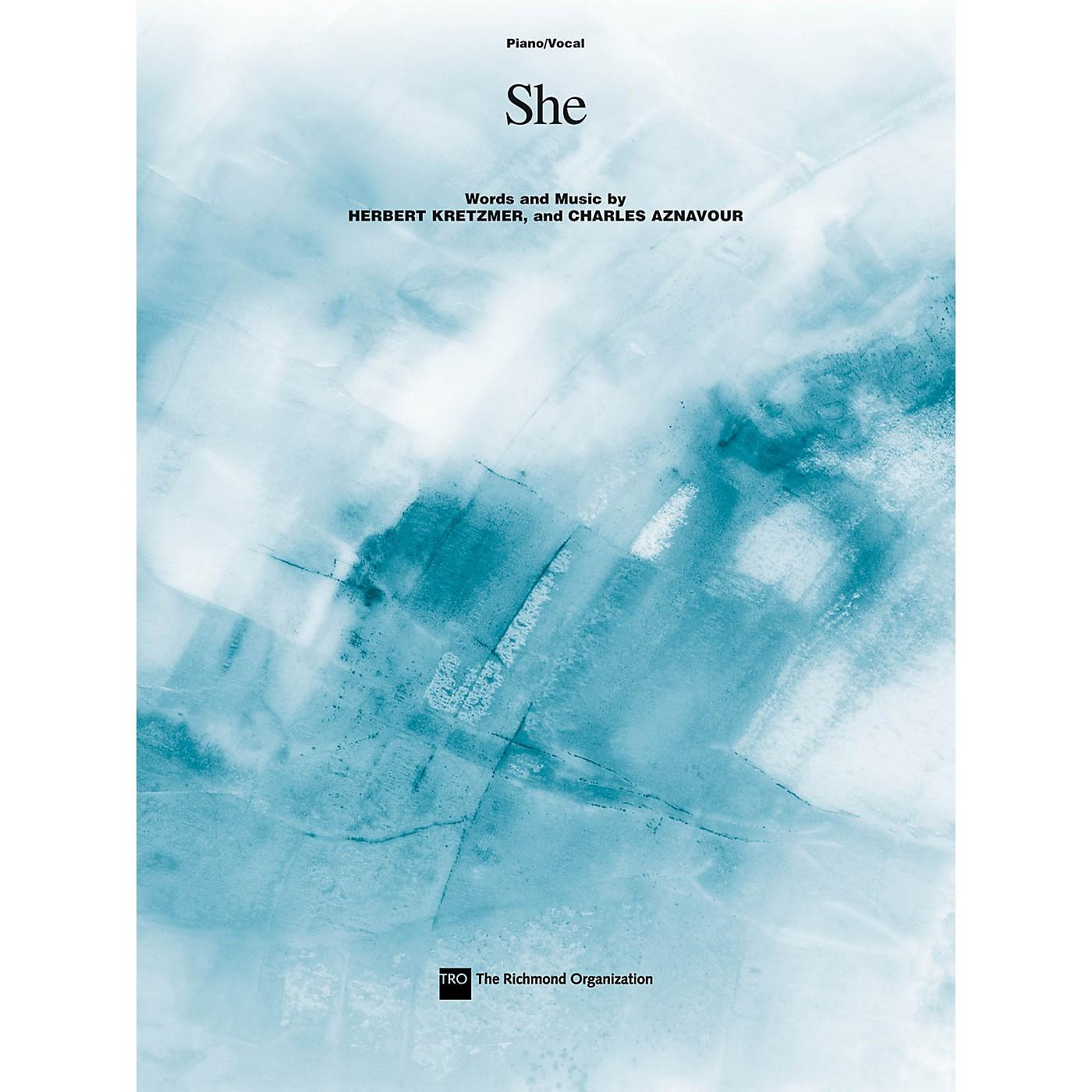 TRO ESSEX Music Group She Richmond Music ¯ Sheet Music Series thumbnail
