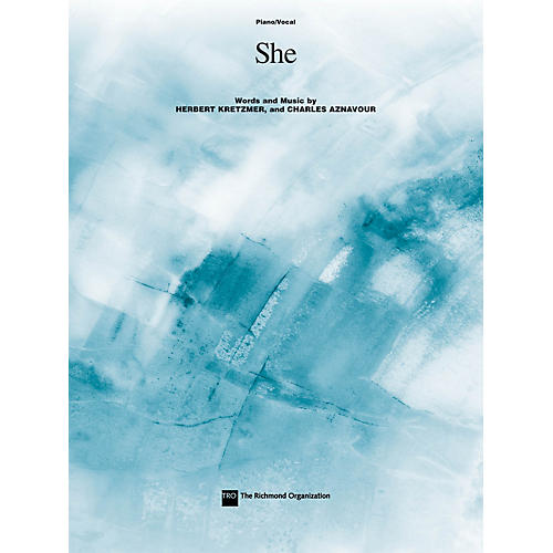 TRO ESSEX Music Group She Richmond Music ¯ Sheet Music Series thumbnail