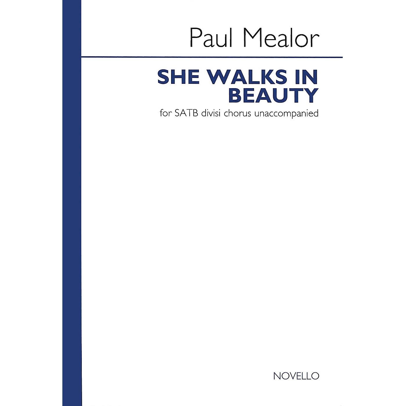 Novello She Walks in Beauty SATB Composed by Paul Mealor thumbnail