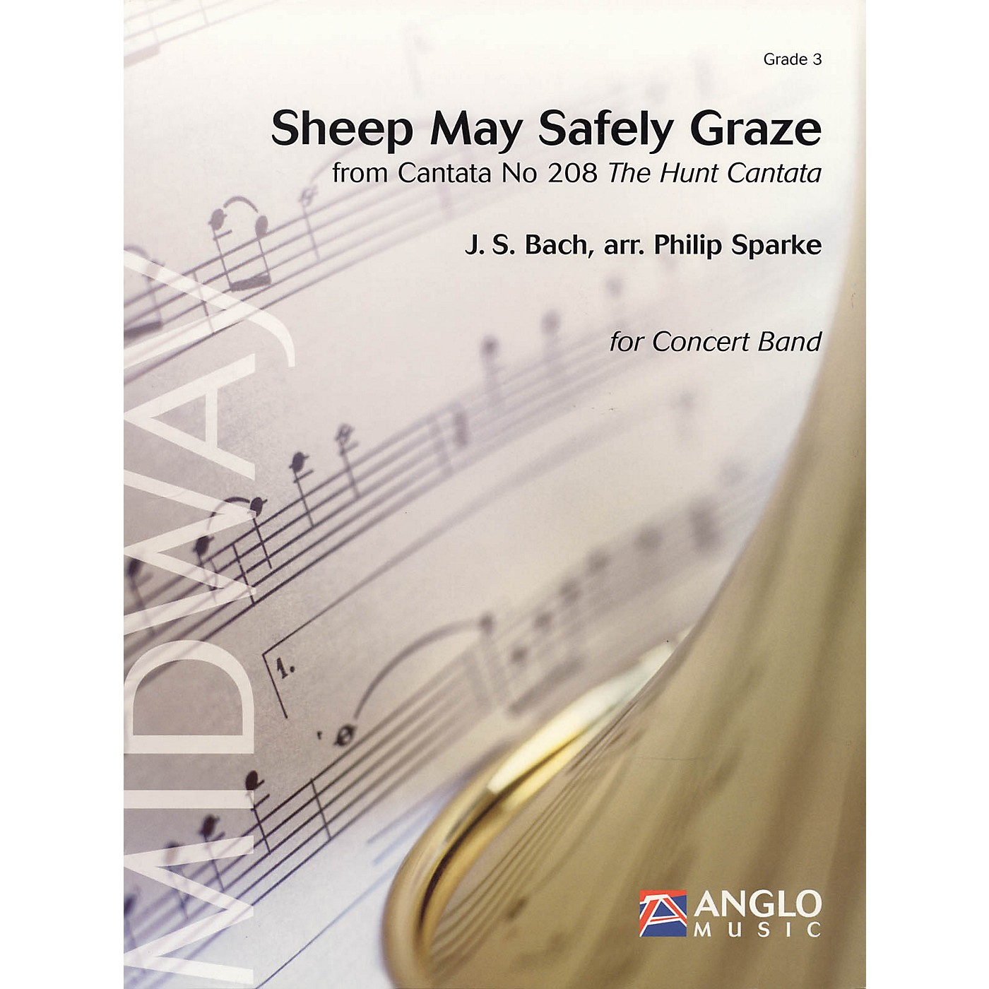 Anglo Music Press Sheep May Safely Graze (Grade 3 - Score and Parts) Concert Band Level 3 Arranged by Philip Sparke thumbnail