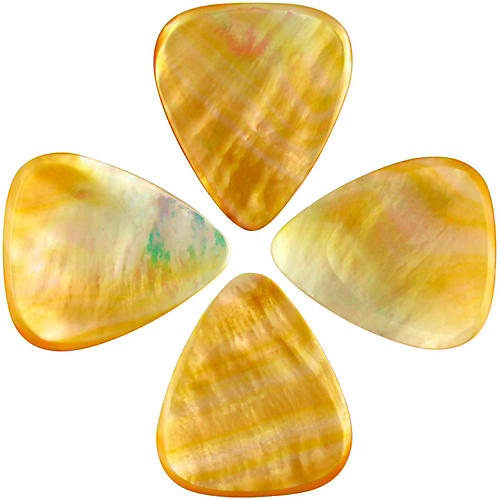Timber Tones Shell Tones Gold MOP Single Plectrum Guitar Pick thumbnail