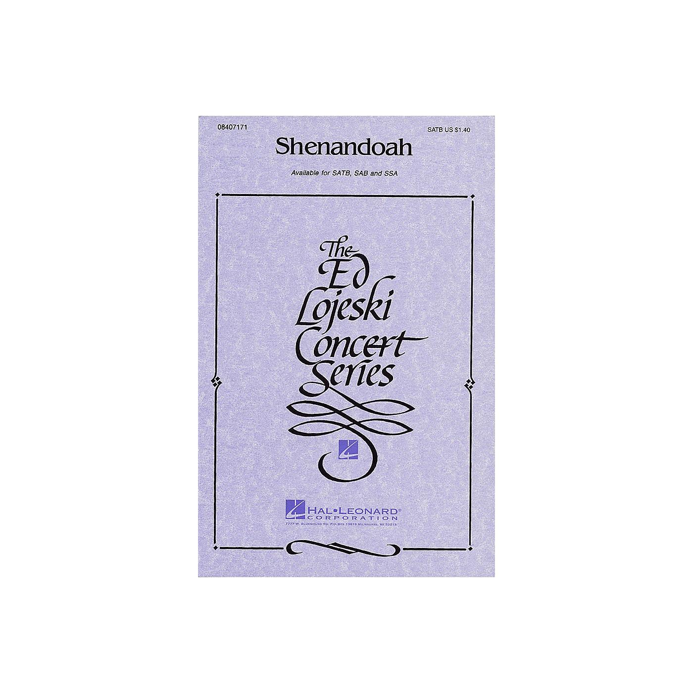 Hal Leonard Shenandoah SATB arranged by Ed Lojeski thumbnail