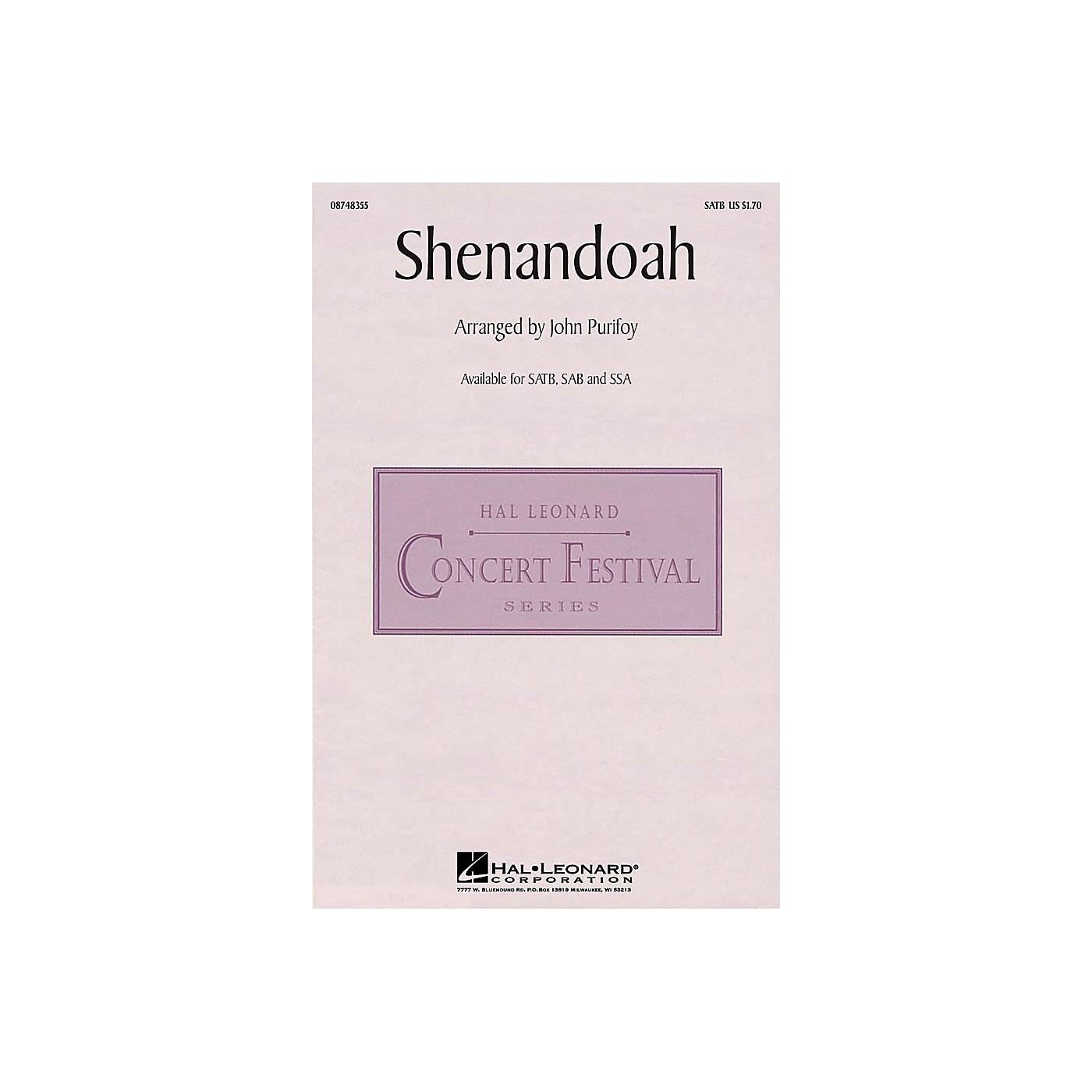 Hal Leonard Shenandoah SATB arranged by John Purifoy thumbnail