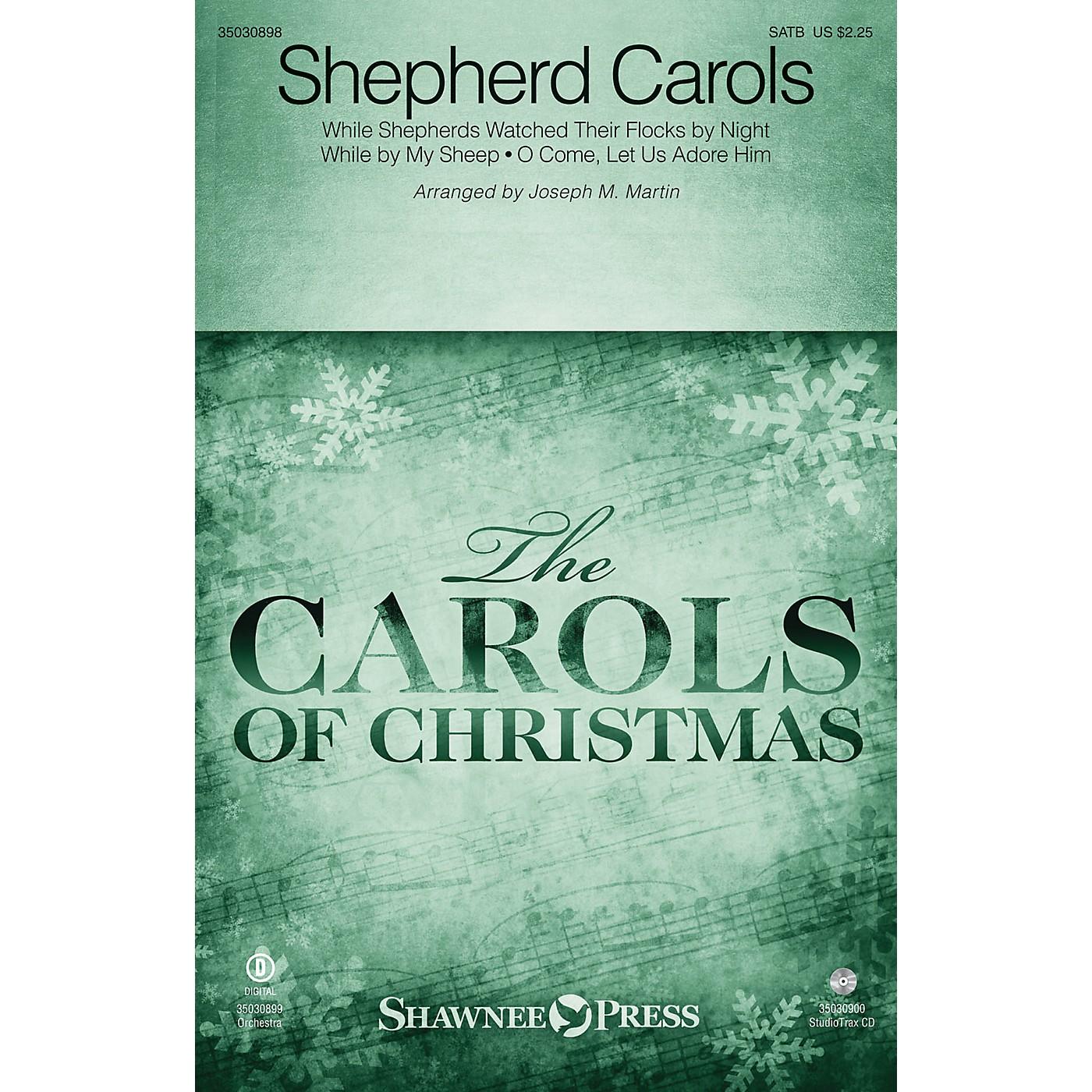 Shawnee Press Shepherd Carols Studiotrax CD Arranged by Joseph M. Martin thumbnail