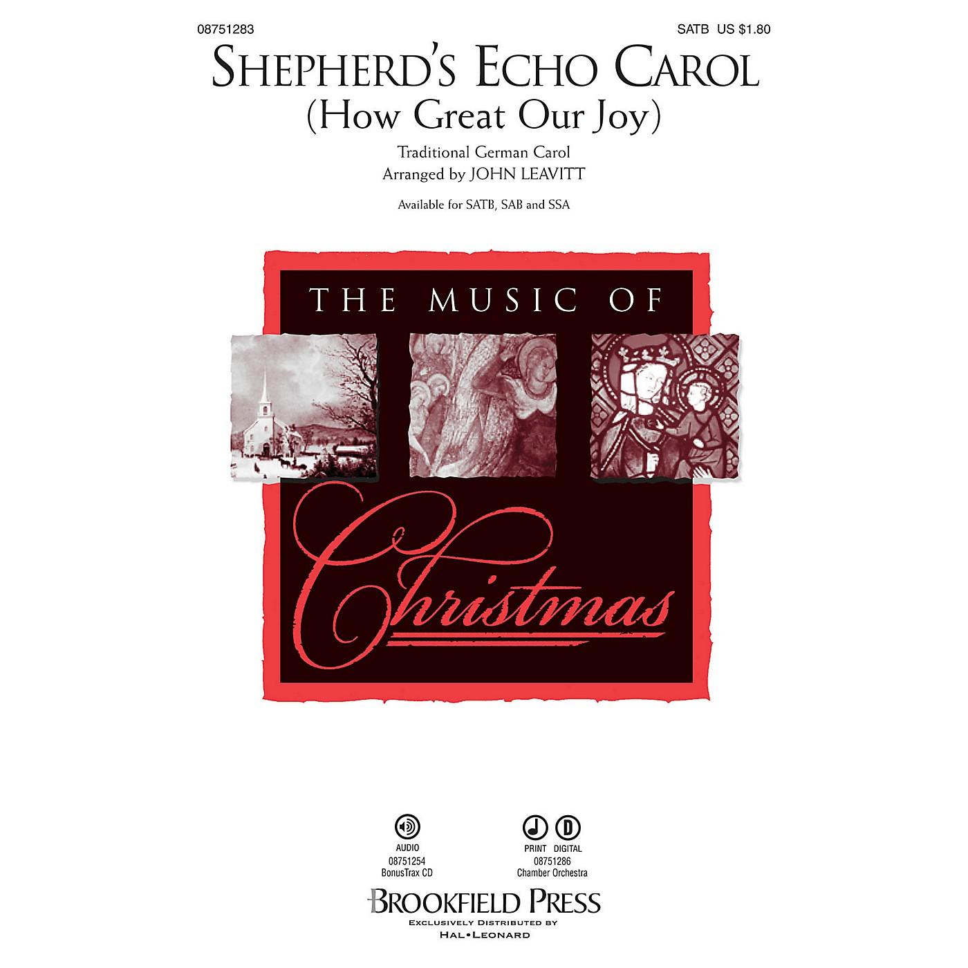 Brookfield Shepherd's Echo Carol (How Great Our Joy) SATB arranged by John Leavitt thumbnail