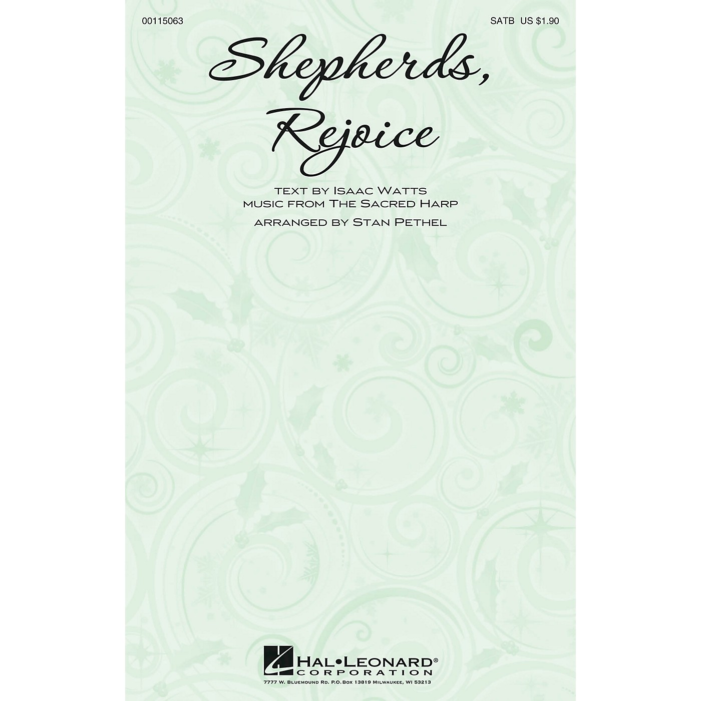 Hal Leonard Shepherds, Rejoice SATB arranged by Stan Pethel thumbnail