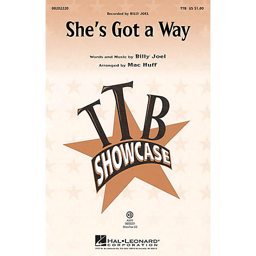Hal Leonard She's Got a Way TTB by Billy Joel arranged by Mac Huff thumbnail
