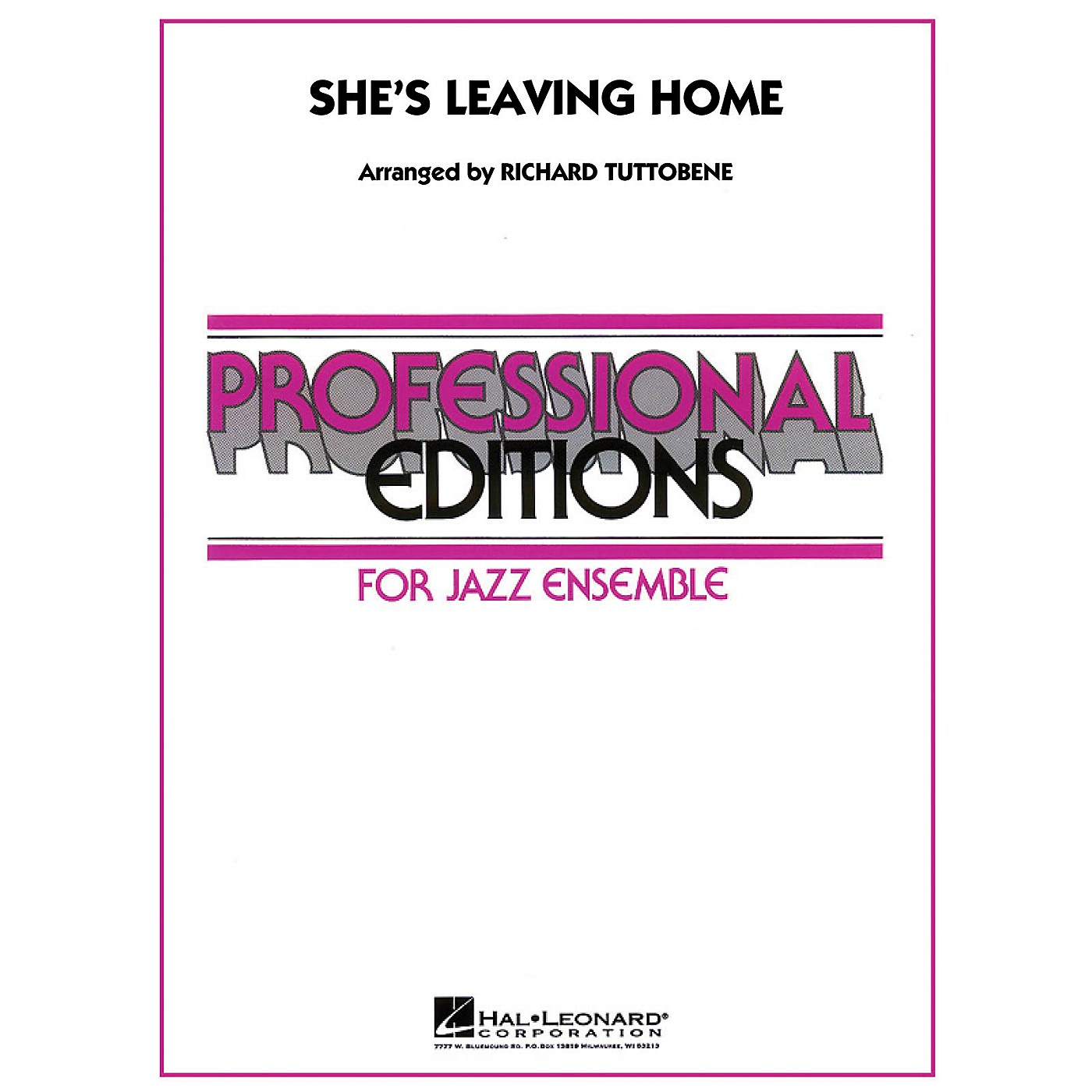Hal Leonard She's Leaving Home - Professional Editions For Jazz Ensemble Series Level 5 thumbnail