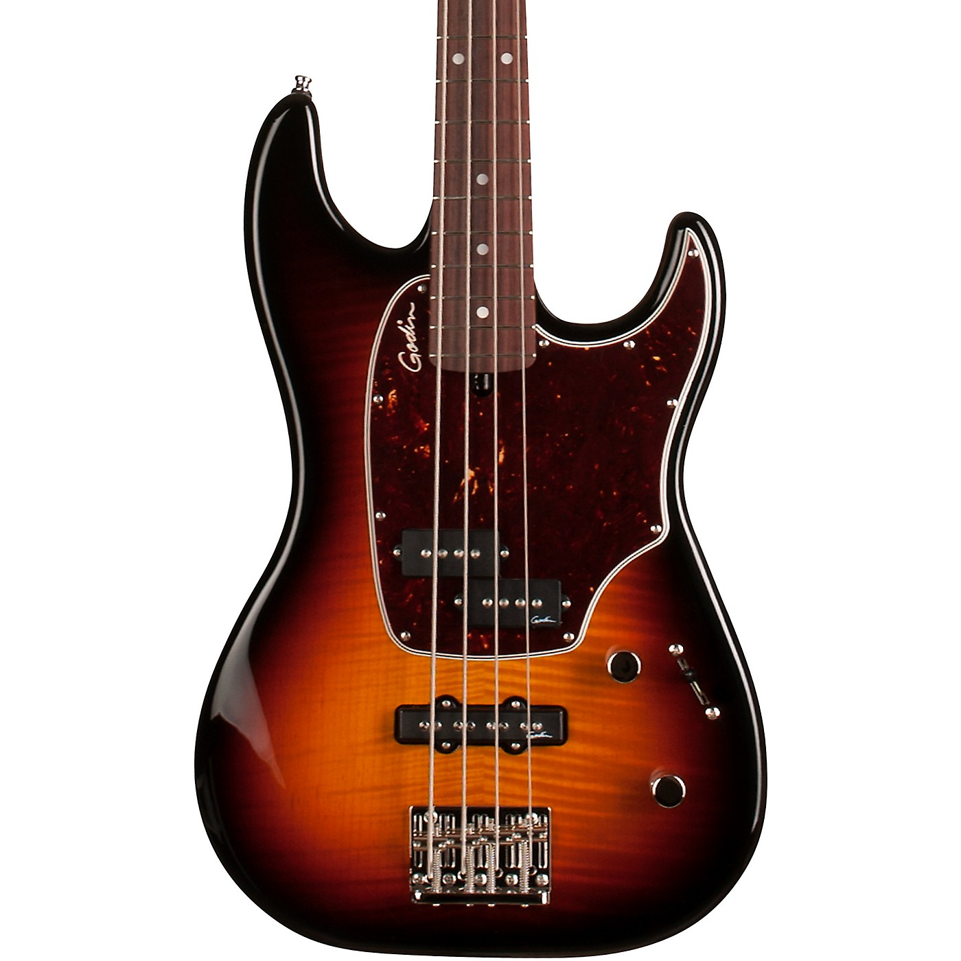 Godin Shifter Classic 4 Flame Top Electric Bass Guitar thumbnail