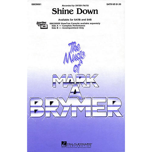 Hal Leonard Shine Down SATB by Sandi Patti arranged by Mark Brymer thumbnail
