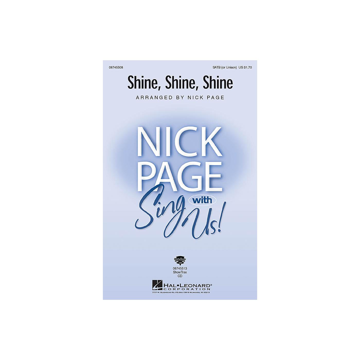 Hal Leonard Shine, Shine, Shine SATB (OPT UNISON) arranged by Nick Page thumbnail