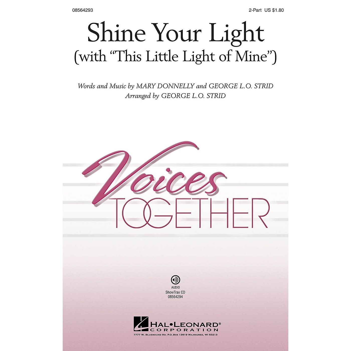 Hal Leonard Shine Your Light (with This Little Light of Mine) 2-Part arranged by George. L.O. Strid thumbnail