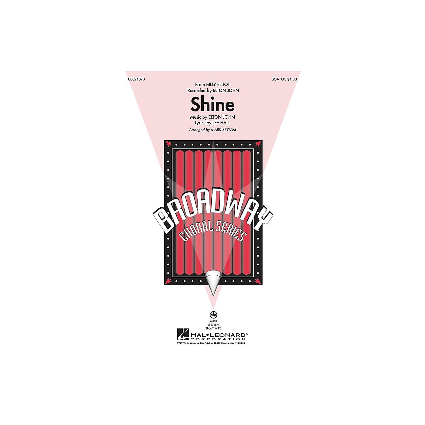 Hal Leonard Shine (from Billy Elliot) ShowTrax CD by Elton John Arranged by Mark Brymer thumbnail