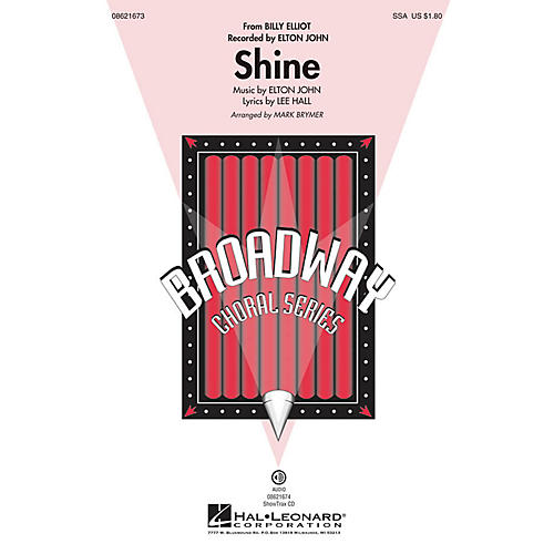 Hal Leonard Shine (from Billy Elliot) ShowTrax CD by Elton John Arranged by Mark Brymer thumbnail