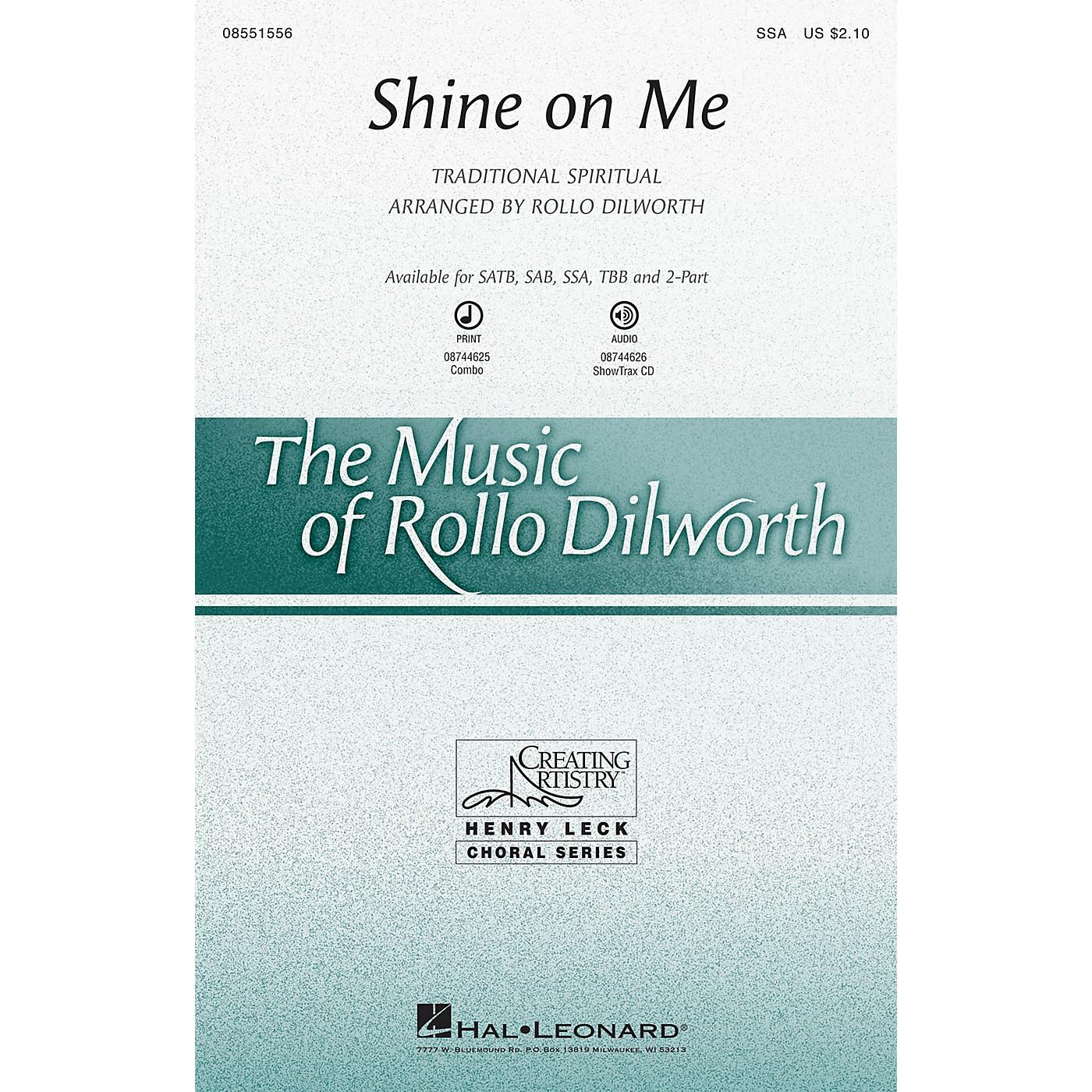 Hal Leonard Shine on Me SAB Arranged by Rollo Dilworth thumbnail