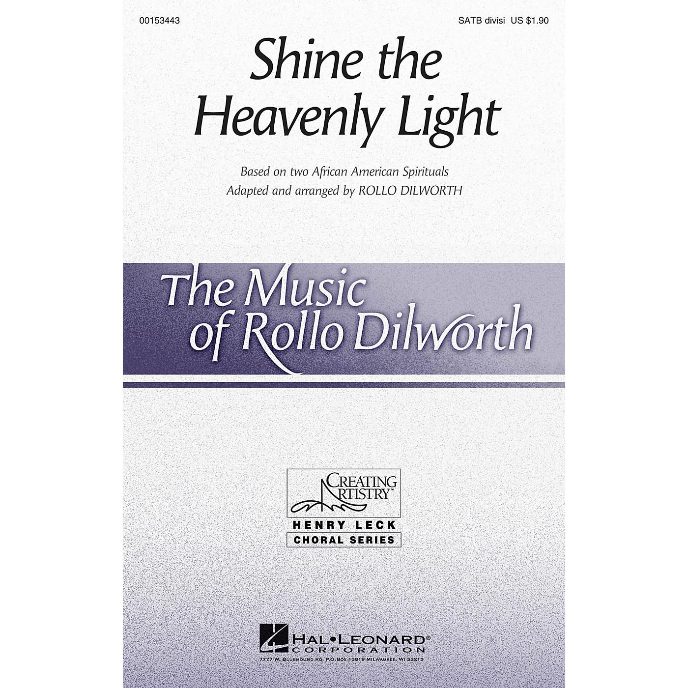 Hal Leonard Shine the Heavenly Light SATB arranged by Rollo Dilworth thumbnail