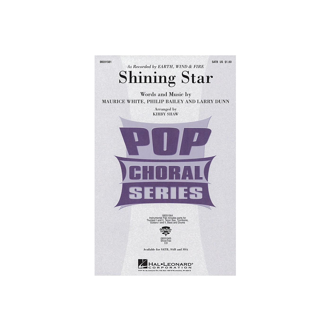 Hal Leonard Shining Star SAB by Earth, Wind & Fire Arranged by Kirby Shaw thumbnail