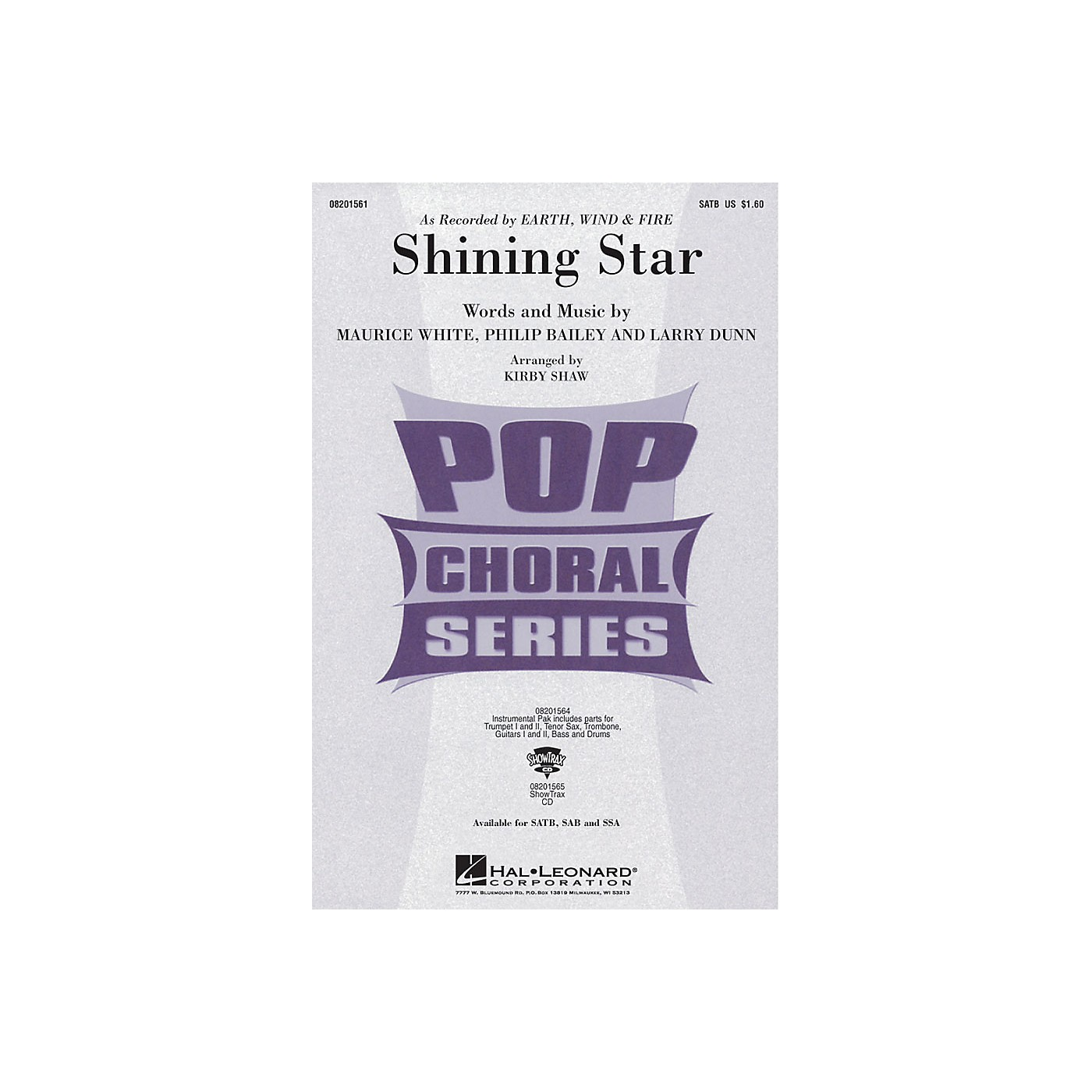 Hal Leonard Shining Star SSA by Earth, Wind & Fire Arranged by Kirby Shaw thumbnail