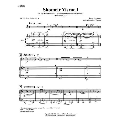 Edward B. Marks Music Company Shomeir Yisraeil (Guardians of Israel) SATB Composed by Larry Hochman Edited by Judith Clurman thumbnail