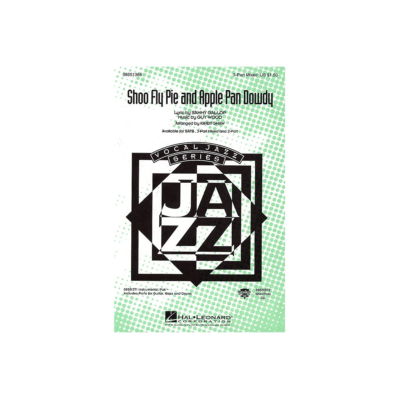 Hal Leonard Shoo Fly Pie and Apple Pan Dowdy 2-Part Arranged by Kirby Shaw thumbnail
