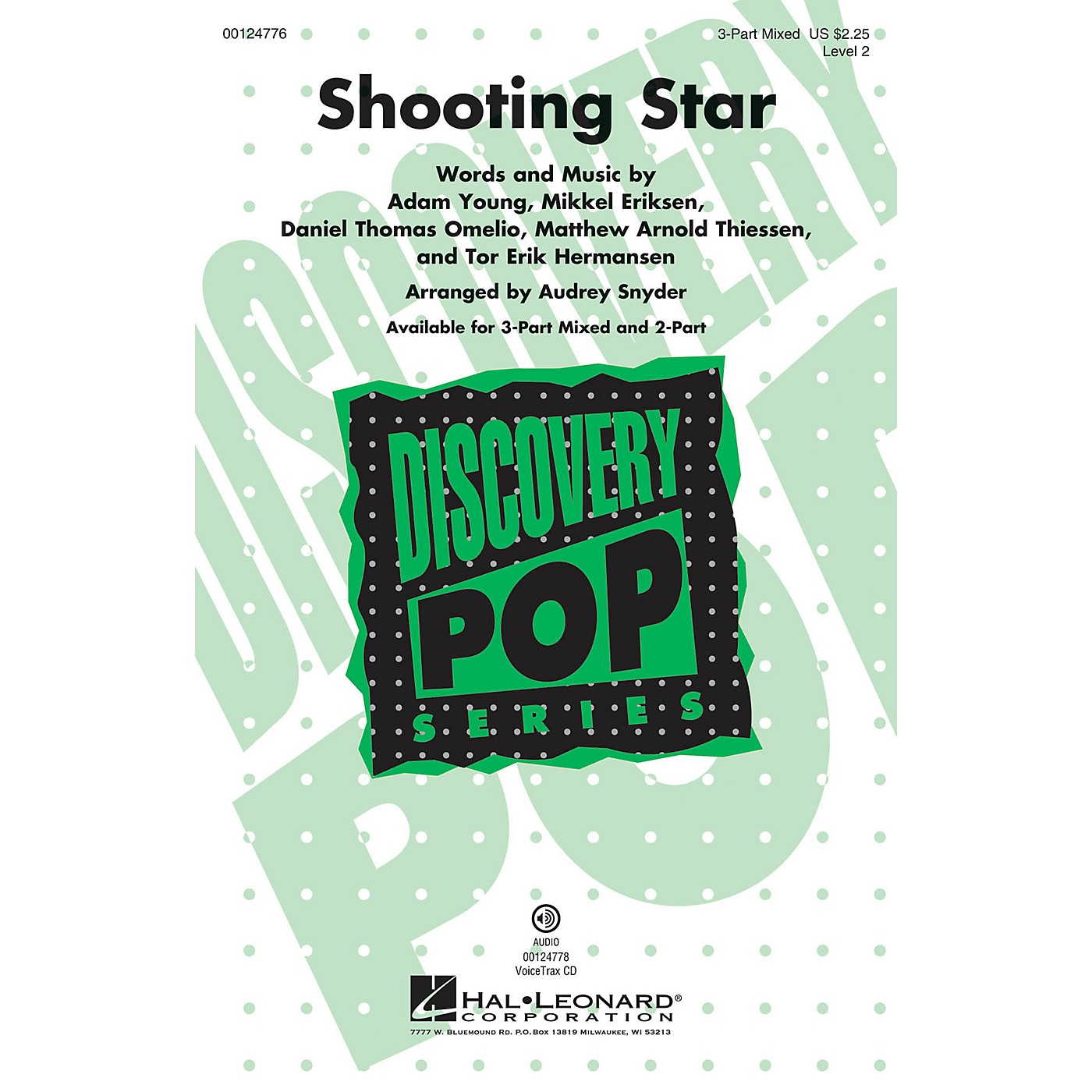 Hal Leonard Shooting Star (Discovery Level 2) 3-Part Mixed arranged by Audrey Snyder thumbnail
