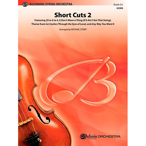 Alfred Short Cuts 2 String Orchestra Level 2.5 Set thumbnail