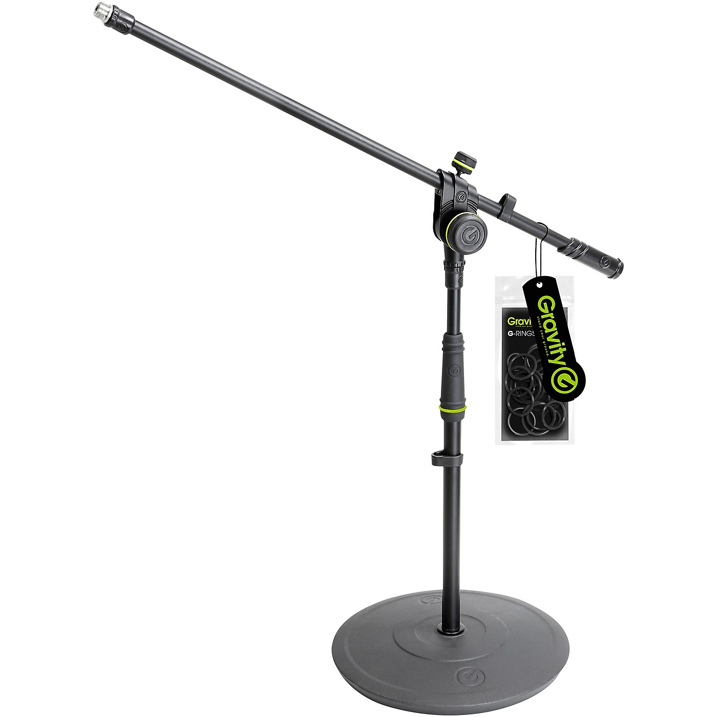 Gravity Stands Short Microphone Stand With Round Base And 2-Point Adjustment Boom thumbnail