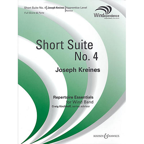 Boosey and Hawkes Short Suite No. 4 Concert Band Composed by Joseph Kreines thumbnail