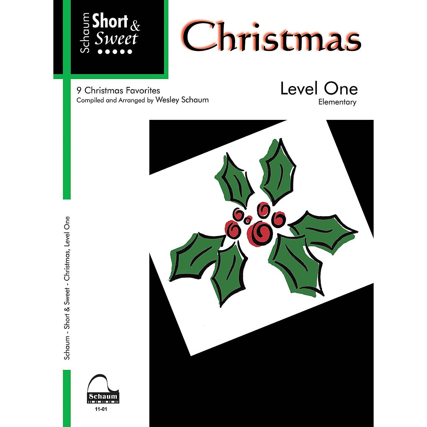 SCHAUM Short & Sweet: Christmas (Level 1 Elem Level) Educational Piano Book thumbnail