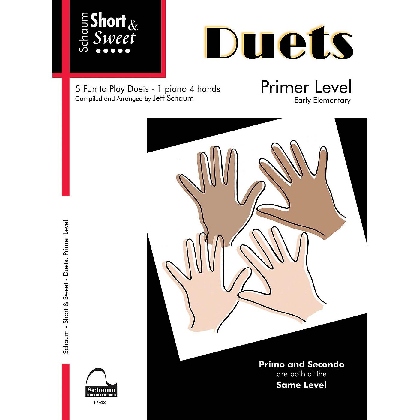SCHAUM Short & Sweet: Duets Educational Piano Book (Level Early Elem) thumbnail