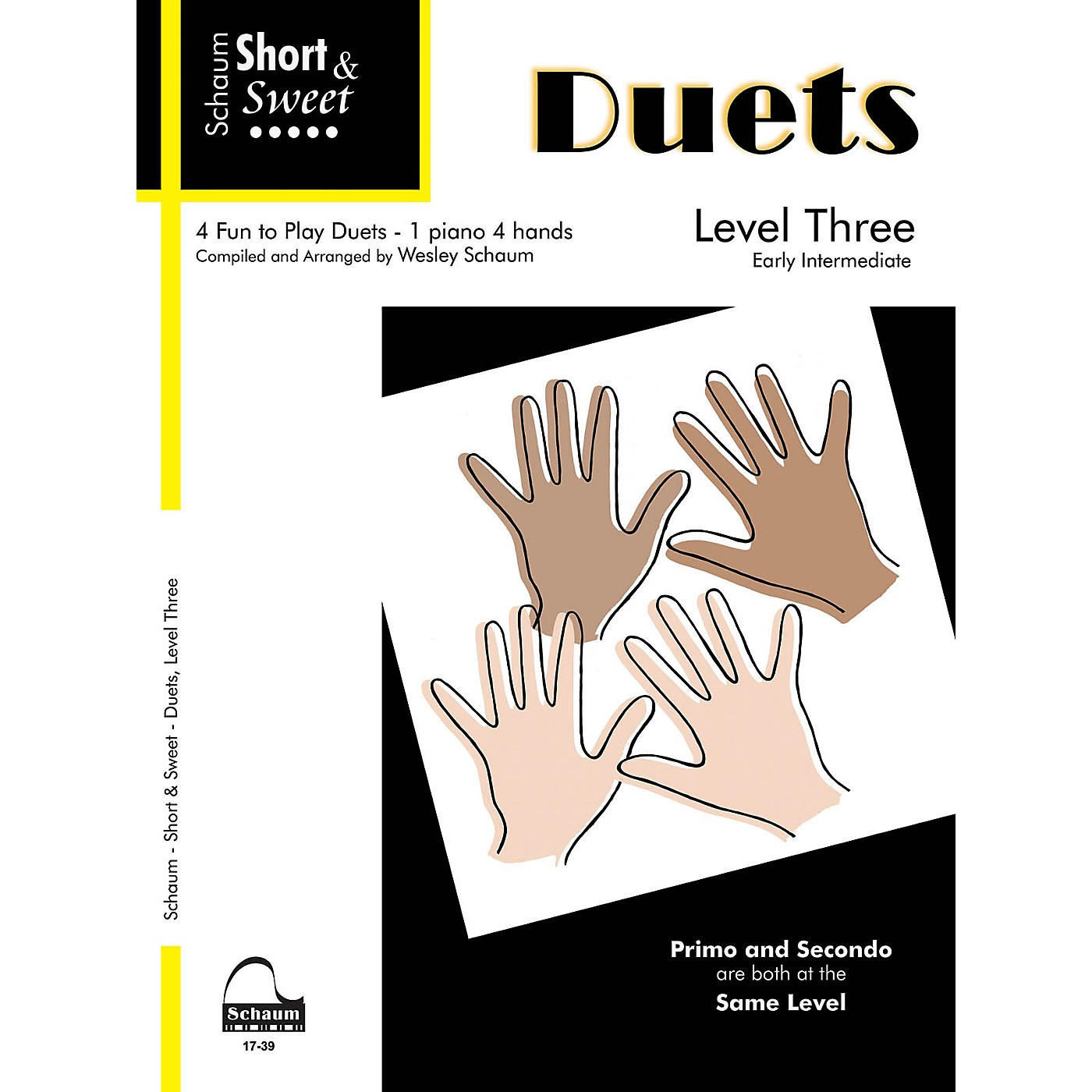 SCHAUM Short & Sweet: Duets Educational Piano Book (Level Early Inter) thumbnail