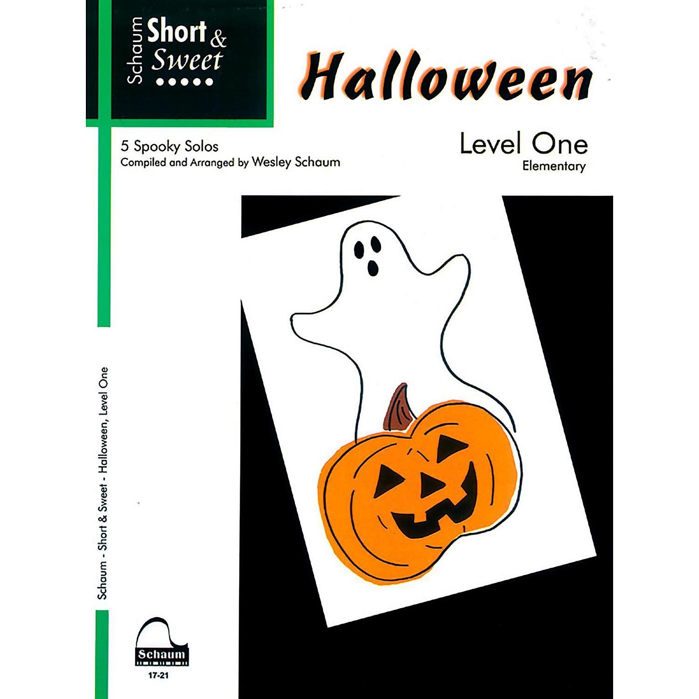 SCHAUM Short & Sweet Halloween, Level One Elementary thumbnail