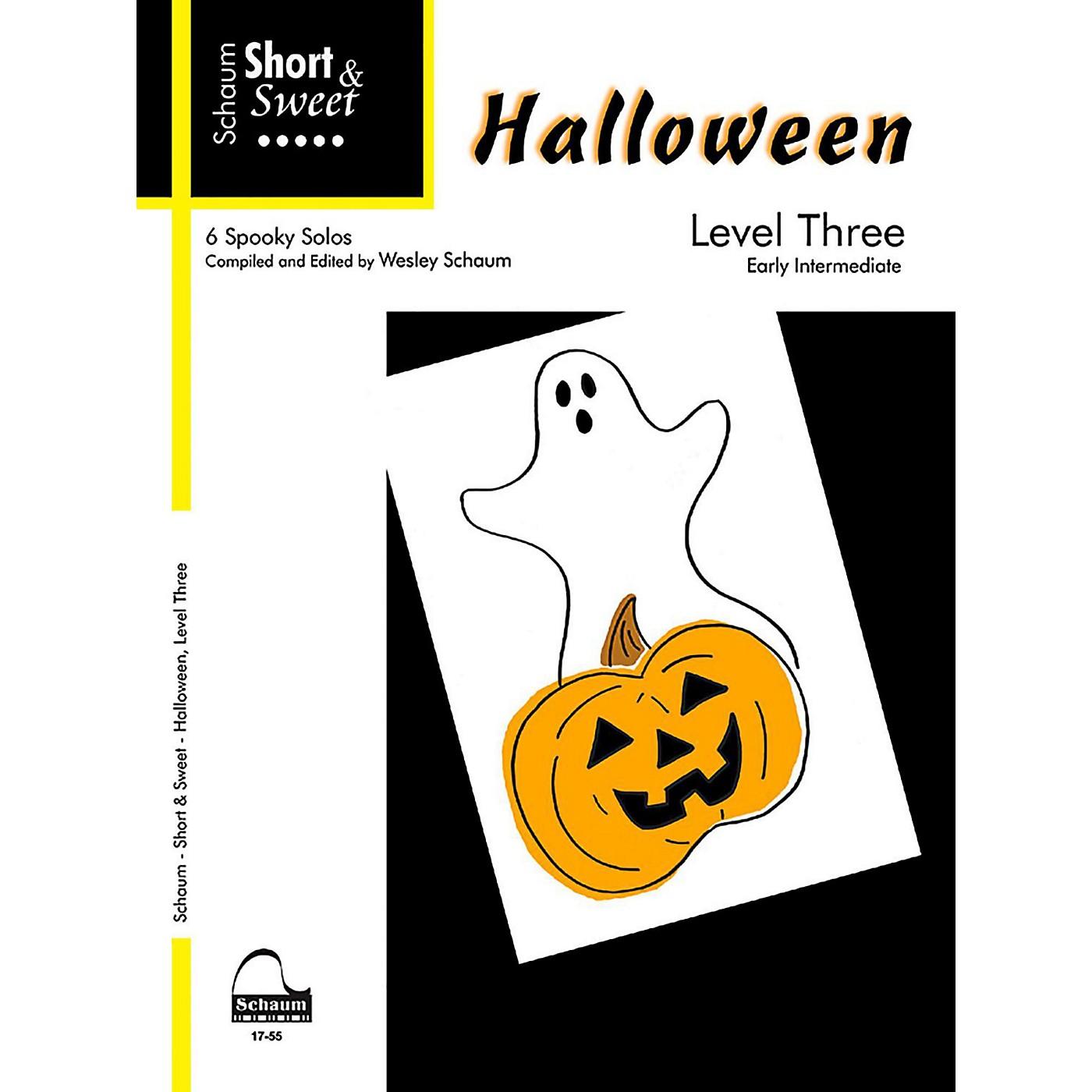 SCHAUM Short & Sweet Halloween, Level Three Early Intermediate thumbnail
