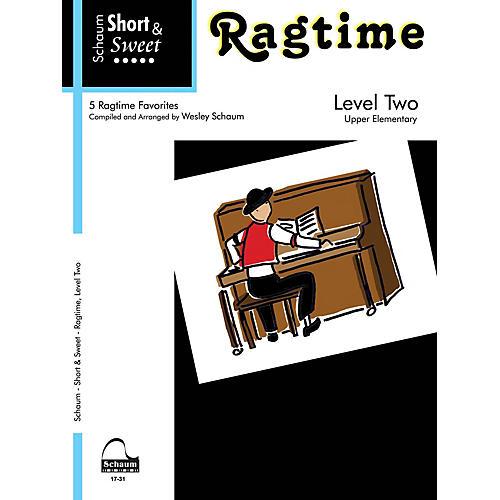 SCHAUM Short & Sweet: Ragtime (Level 2 Upper Elem Level) Educational Piano Book thumbnail