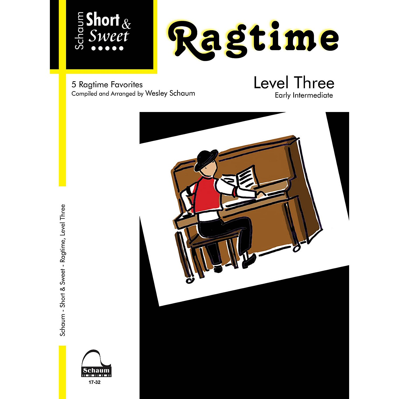 SCHAUM Short & Sweet: Ragtime (Level 3 Early Inter Level) Educational Piano Book thumbnail