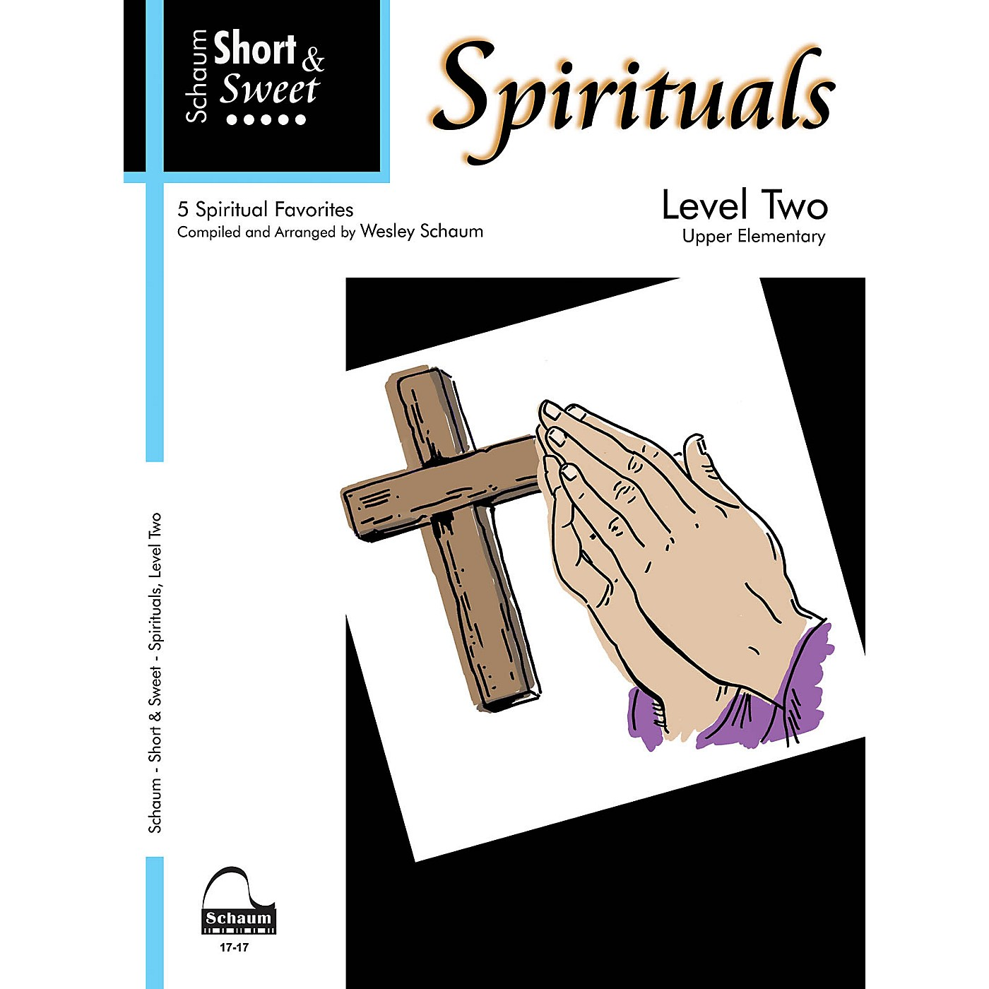 SCHAUM Short & Sweet: Spirituals (Level 2 Upper Elem Level) Educational Piano Book thumbnail