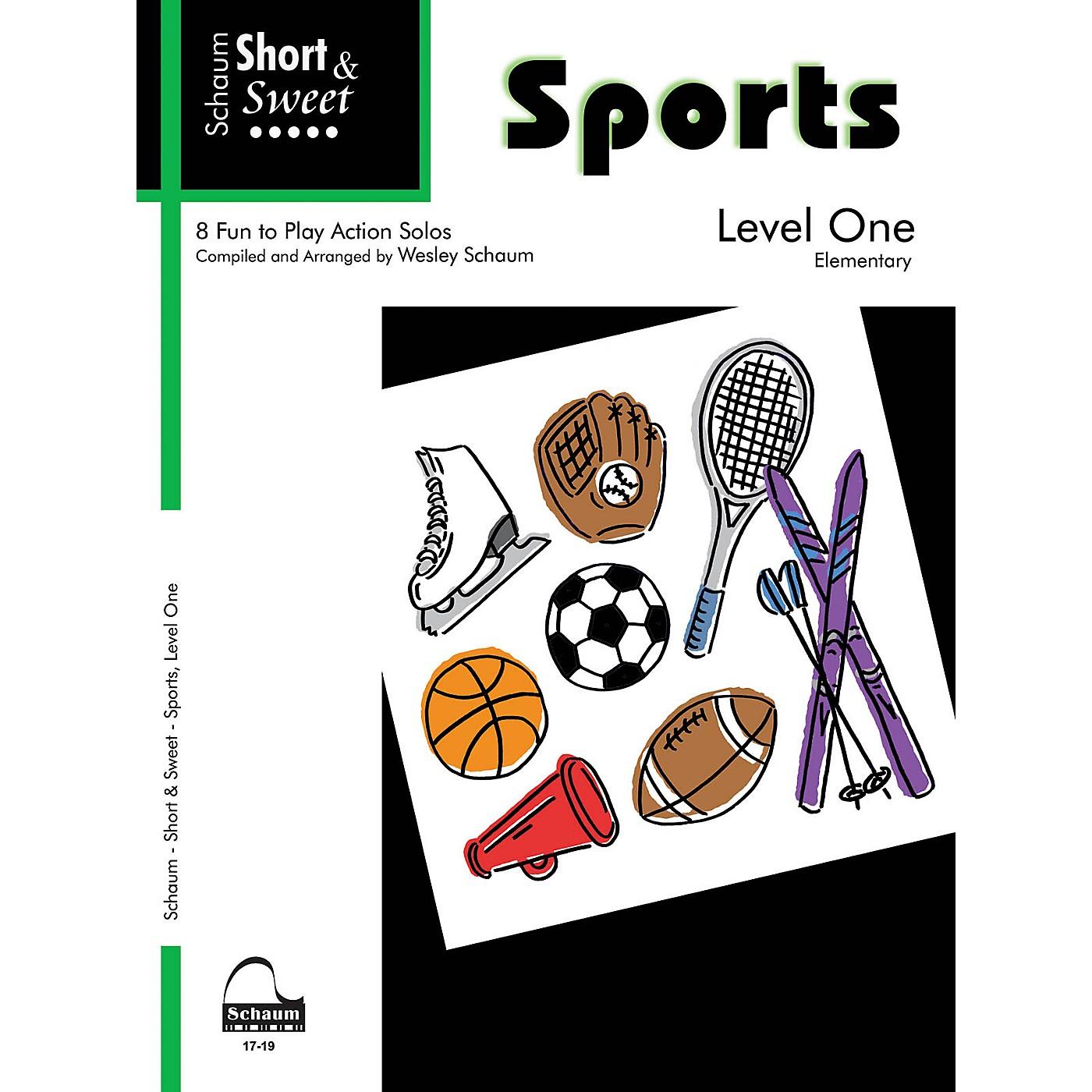 SCHAUM Short & Sweet: Sports (Level 1 Elem Level) Educational Piano Book thumbnail